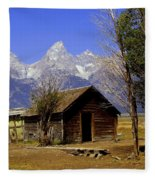 Teton Cabin Fleece Blanket
