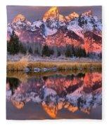 Teton Sunrise Spectacular Fleece Blanket
