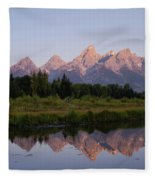 Teton Sunrise Fleece Blanket