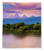 Teton Valley Paradise  Fleece Blanket
