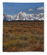 Teton Willow Flats Panorama Fleece Blanket