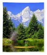 Tetons 3 Fleece Blanket