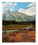 Tetons Grande 5 Fleece Blanket