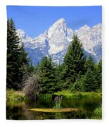Tetons Fleece Blanket