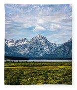 Tetons - Panorama Fleece Blanket