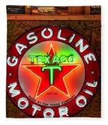 Texaco Gasoline Fleece Blanket