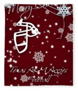 Texas Am Aggies Christmas Card Fleece Blanket