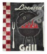 Texas Barbecue I Fleece Blanket