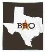 Texas Bbq Fleece Blanket