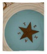 Texas Capitol Dome Lone Star In Austin, Texas, Usa Fleece Blanket