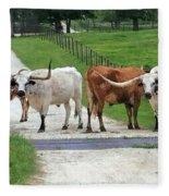 Texas Cattle Guard Fleece Blanket