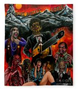 Texas Chainsaw Massacre 2 Fleece Blanket