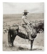 Texas: Cowboy, C1908 Fleece Blanket