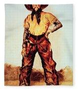 Texas Cowboy Fleece Blanket