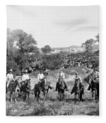 Texas: Cowboys, C1901 Fleece Blanket