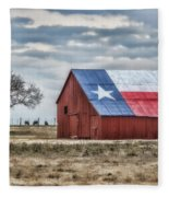 Texas Flag Barn #1 Fleece Blanket