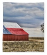 Texas Flag Barn #2 Fleece Blanket