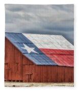 Texas Flag Barn #3 Fleece Blanket
