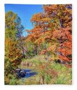 Texas Hill Country Autumn Fleece Blanket