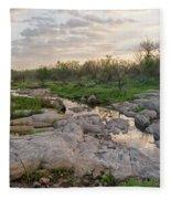 Texas Hill Country Sunrise - Llano Tx Fleece Blanket