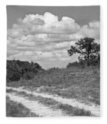 Texas Hill Country Trail Fleece Blanket