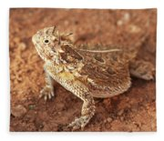 Texas Horned Lizard Fleece Blanket