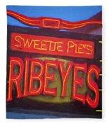 Texas Impressions Sweetie Pie's Ribeyes Fleece Blanket