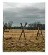 Texas In Tree Branches Fleece Blanket