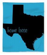 Texas Is Home Base Black Fleece Blanket