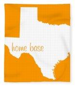 Texas Is Home Base White Fleece Blanket