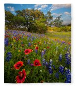 Texas Paradise Fleece Blanket