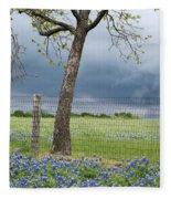Texas Spring Storm Fleece Blanket