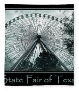 Texas Star Aqua Poster Fleece Blanket