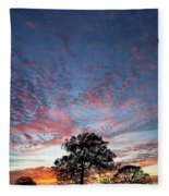 Texas Sunset Fleece Blanket