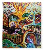 Texture Abstract  Fleece Blanket