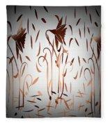 Texture Drama Dancing Flowers Fleece Blanket