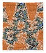 Textured Abstract # 2060ew4dt Fleece Blanket