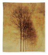 Textured Eerie Trees Fleece Blanket