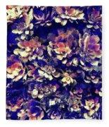 Textured Garden Succulents Fleece Blanket