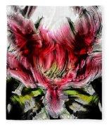 Textured Lily Fleece Blanket