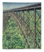 Textured New River Gorge Bridge Fleece Blanket