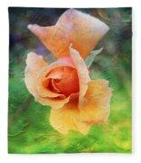 Textured Rose 3 Fleece Blanket