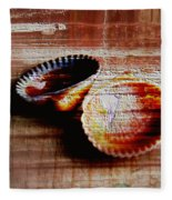 Textured Shells Fleece Blanket