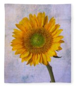 Textured Sunflower Fleece Blanket