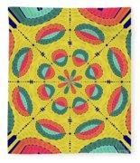 Textured Tropical Mandala Fleece Blanket