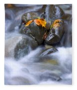 Textures Of Autumn Fleece Blanket