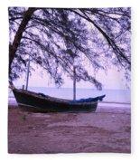 Thai Fishing Boat 04 Fleece Blanket