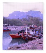 Thai Fishing Boats 05 Fleece Blanket