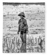 Thailand Rice Planter Fleece Blanket