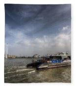 Thames Clipper And Cable Car Fleece Blanket